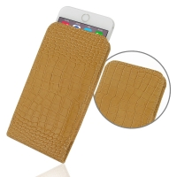 Leather Vertical Pouch Case for Apple iPhone 6 Plus | iPhone 6s Plus (Brown Crocodile Pattern)