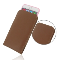 Leather Vertical Pouch Case for Apple iPhone 6 Plus | iPhone 6s Plus ( Compatible with 1.0 mm Slim Case / Cover on ) (Brown)