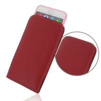 Leather Vertical Pouch Case for Apple iPhone 6 Plus | iPhone 6s Plus ( Compatible with 1.0 mm Slim Case / Cover on ) (Red)