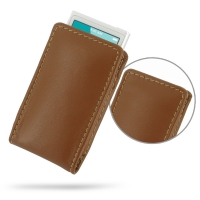 Leather Vertical Pouch Case for Apple iPod nano 8th / iPod nano 7th Generation (Brown)