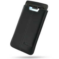 Leather Vertical Pouch Case for Archos 70 Internet Tablet (250GB) (Black)