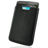 Leather Vertical Pouch Case for Archos 80 G9 (Black)