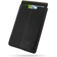 Leather Vertical Pouch Case for Asus Eee Pad Transformer TF101 (Black)