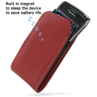 BlackBerry Bold 9780 Leather Sleeve Pouch Case (Red) PDair Premium Hadmade Genuine Leather Protective Case Sleeve Wallet