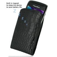 10% OFF + FREE SHIPPING, Buy PDair Quality Handmade Protective BlackBerry Bold 9790 Genuine Leather Sleeve Pouch Case (Black Croc Pattern) online You also can go to the customizer to create your own stylish leather case if looking for additional colors, p
