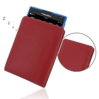 Leather Vertical Pouch Case for BlackBerry Passport ( Compatible with 1.0 mm Slim Case / Cover on ) (Red)