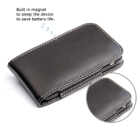 BlackBerry Q5 Leather Sleeve Pouch Case PDair Premium Hadmade Genuine Leather Protective Case Sleeve Wallet
