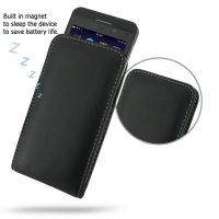 BlackBerry Z10 Leather Sleeve Pouch Case PDair Premium Hadmade Genuine Leather Protective Case Sleeve Wallet
