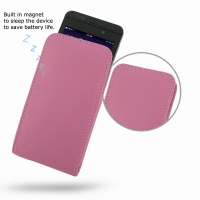 Leather Vertical Pouch Case for BlackBerry Z10 (Petal Pink)