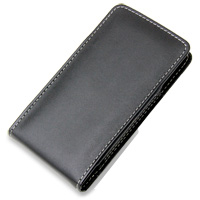 Fujitsu ARROWS X LTE F-05D Leather Sleeve Pouch Case (Black) PDair Premium Hadmade Genuine Leather Protective Case Sleeve Wallet