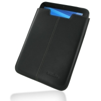 HP TouchPad Leather Sleeve Pouch Case (Black) PDair Premium Hadmade Genuine Leather Protective Case Sleeve Wallet