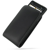 Leather Vertical Pouch Case for HTC Aria (Black)