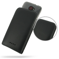 HTC Butterfly (in Slim Cover) Pouch Case PDair Premium Hadmade Genuine Leather Protective Case Sleeve Wallet