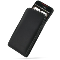 Leather Vertical Pouch Case for HTC Droid Incredible ADR6300 (Black)