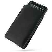 Leather Vertical Pouch Case for HTC Evo 4G (Black)