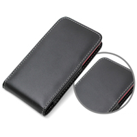 Leather Vertical Pouch Case for HTC J Z321e (Black)