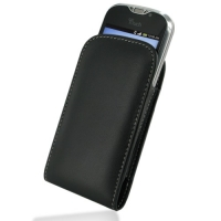 Leather Vertical Pouch Case for HTC MyTouch 4G Slide (Black)