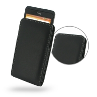 Leather Vertical Pouch Case for HTC One SC T528d