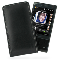 Leather Vertical Pouch Case for HTC Touch Diamond/HTC P3700 (Black)