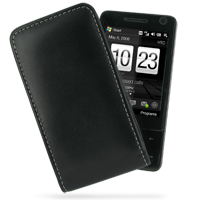 Leather Vertical Pouch Case for HTC Touch Pro (Black)