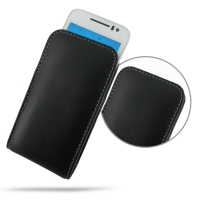 Huawei U8825D Leather Sleeve Pouch Case PDair Premium Hadmade Genuine Leather Protective Case Sleeve Wallet