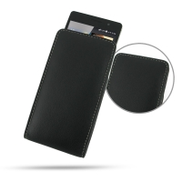 Huawei Ascend P6 Leather Sleeve Pouch Case PDair Premium Hadmade Genuine Leather Protective Case Sleeve Wallet