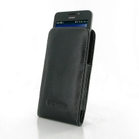 Huawei Ascend Y635 Leather Sleeve Pouch Case PDair Premium Hadmade Genuine Leather Protective Case Sleeve Wallet