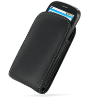 Leather Vertical Pouch Case for Huawei IDEOS U8150 (Black)