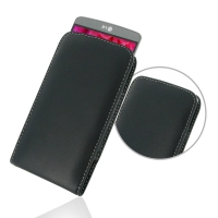 LG G3 Leather Sleeve Pouch Case PDair Premium Hadmade Genuine Leather Protective Case Sleeve Wallet