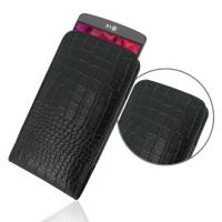 Leather Vertical Pouch Case for LG G3 D850 D855 (Black Crocodile Pattern)