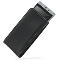 Leather Vertical Pouch Case for LG GD880 Mini (Black)
