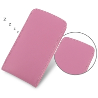 Nexus 5 Leather Sleeve Pouch Case (Petal Pink) PDair Premium Hadmade Genuine Leather Protective Case Sleeve Wallet