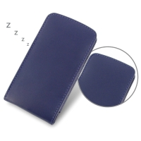 Nexus 5 Leather Sleeve Pouch Case (Purple) PDair Premium Hadmade Genuine Leather Protective Case Sleeve Wallet