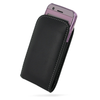 Leather Vertical Pouch Case for LG GT505 (Black)