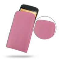 Nexus 4 Leather Sleeve Pouch Case (Petal Pink) PDair Premium Hadmade Genuine Leather Protective Case Sleeve Wallet