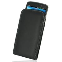 Leather Vertical Pouch Case for LG Nitro HD P930 (Black)