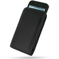 Leather Vertical Pouch Case for LG Optimus Black P970 (Black)