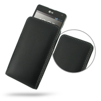 LG Optimus G Leather Sleeve Pouch Case PDair Premium Hadmade Genuine Leather Protective Case Sleeve Wallet