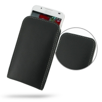 LG Optimus L7 II Dual Leather Sleeve Pouch Case PDair Premium Hadmade Genuine Leather Protective Case Sleeve Wallet