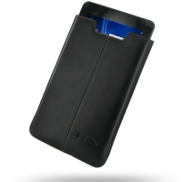 LG Optimus Pad L-06C Leather Sleeve Pouch Case (Black) PDair Premium Hadmade Genuine Leather Protective Case Sleeve Wallet