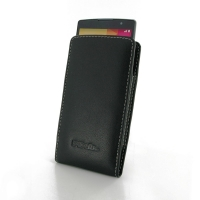 LG Spirit Leather Sleeve Pouch Case PDair Premium Hadmade Genuine Leather Protective Case Sleeve Wallet