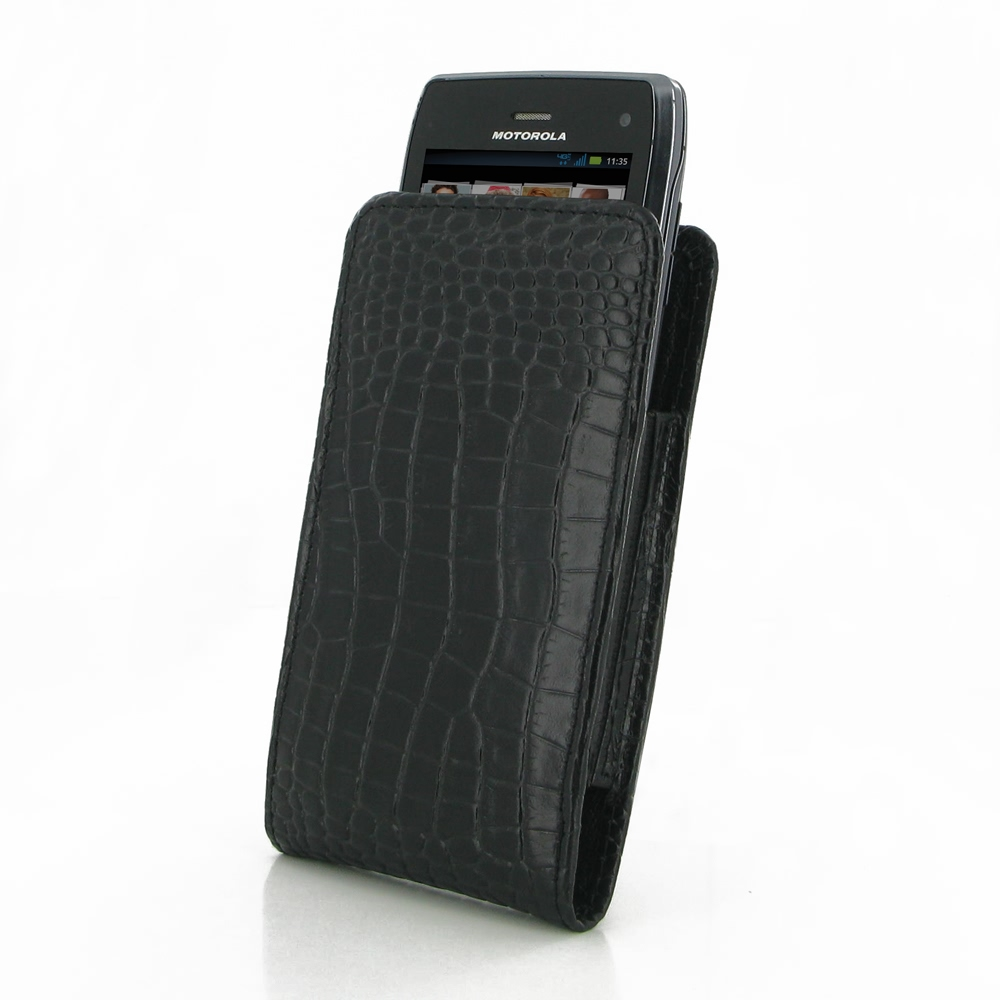 10% OFF + FREE SHIPPING, Buy PDair Quality Handmade Protective Motorola Droid Razr Maxx Leather Sleeve Pouch Case (Black Croc Pattern). You also can go to the customizer to create your own stylish leather case if looking for additional colors, patterns an