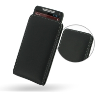 Leather Vertical Pouch Case for Motorola Razr i XT890