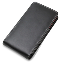 NEC MEDIAS LTE N-04D Leather Sleeve Pouch Case (Black) PDair Premium Hadmade Genuine Leather Protective Case Sleeve Wallet