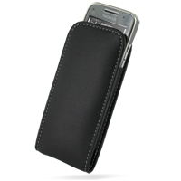 Nokia E52 Leather Sleeve Pouch Case (Black) PDair Premium Hadmade Genuine Leather Protective Case Sleeve Wallet