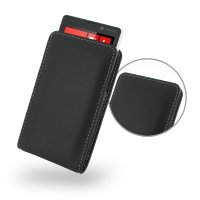Nokia Lumia 820 Leather Sleeve Pouch Case PDair Premium Hadmade Genuine Leather Protective Case Sleeve Wallet