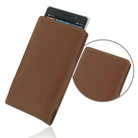 Leather Vertical Pouch Case for Nokia Lumia 830 (Brown)