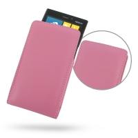 Nokia Lumia 920 Leather Sleeve Pouch Case (Petal Pink) PDair Premium Hadmade Genuine Leather Protective Case Sleeve Wallet