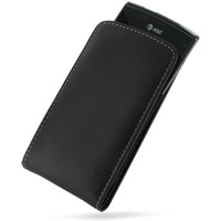 Leather Vertical Pouch Case for Samsung Captivate Galaxy S SGH-i897 (Black)