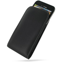 Samsung Fascinate Galaxy S Leather Sleeve Pouch Case (Black) PDair Premium Hadmade Genuine Leather Protective Case Sleeve Wallet